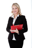Brunette woman is waiting for orders from her boss Royalty Free Stock Photo