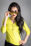 Brunette women with sunglasses Royalty Free Stock Photography
