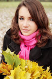 Brunette in wreaths Stock Photos