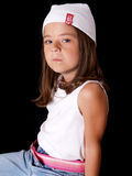 Brunette Young Girl Royalty Free Stock Images