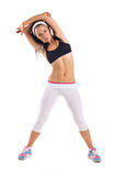 Young woman doing sportive  exercise Royalty Free Stock Images