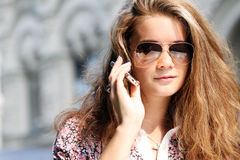 Brunette young woman Royalty Free Stock Photo
