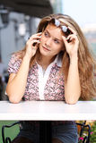 Brunette young woman Royalty Free Stock Photos