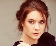 Brunette young woman Stock Image