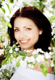Brunettefrau stockfotografie