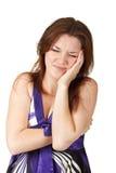 brunetten smärtar nätt kvinnabarn Royaltyfri Foto