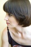 brunettkvinna Arkivbild