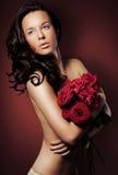 brunettkvinna Arkivfoton