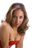 brunettkvinna Arkivfoto