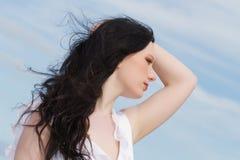 brunettkvinna Royaltyfri Fotografi