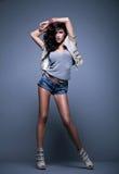 brunettkvinna Fotografering för Bildbyråer