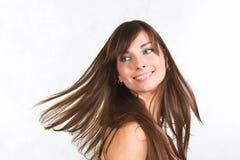brunettkvinnabarn Royaltyfria Foton