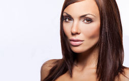 brunettkvinnabarn Royaltyfria Bilder
