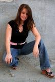 brunettmodemodell Royaltyfria Bilder