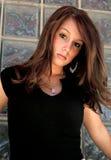 brunettmodemodell Arkivfoto