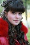 brunettstående Royaltyfria Foton