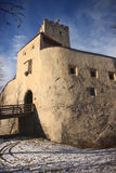 Brunico城堡的门面 库存图片