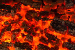 Bruning wood in the oven Royalty Free Stock Images