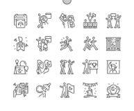 Brunn-tillverkad vektor för ungdom och för sportar dag royaltyfri illustrationer