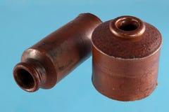 Brunnar för tappninglerafärgpulver Arkivfoton