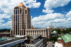 Brunnar Fargo Tower - Roanoke, Virginia, USA arkivfoto