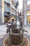 Brunnen in Aachen, Deutschland Lizenzfreies Stockbild