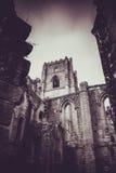 Brunnen Abbey Ruins, Ripon Großbritannien stockbild