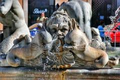 Brunnen auf dem Marktplatz Navona in Rom, Italien Stockfotos