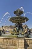 Brunnen auf dem Place de la Concorde Stockfoto