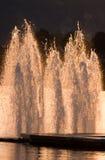Brunnen auf dem Wasser nachts Lizenzfreies Stockbild