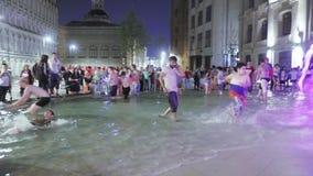 Brunnen auf Ilyinka stock video footage