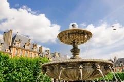 Brunnen auf Platz-DES Vosges lizenzfreies stockbild