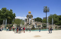 Brunnen in Barcelona lizenzfreies stockfoto
