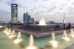 Brunnen beim Corniche in Abu Dhabi, UAE Lizenzfreies Stockfoto