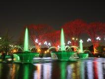 Brunnen-Beleuchtung Stockfotos