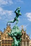 Brunnen Belgiens, Antwerpen Brabo Stockfotos