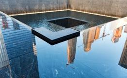 Brunnen am Bodennullpunkt, New York Stockbilder