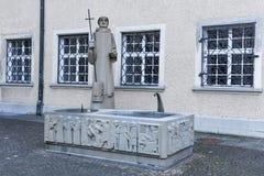 Brunnen an der Abtei von St Gallen auf der Schweiz Lizenzfreies Stockfoto