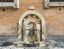Brunnen der Bücher in Rom Stockbilder