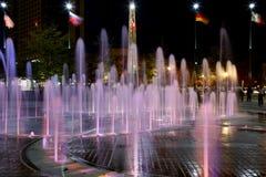 Brunnen der Ringe im hundertjährigen olympischen Park Stockbild