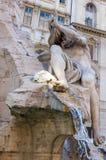 Brunnen der vier Flüsse auf dem Marktplatz Navona, Rom Lizenzfreie Stockbilder