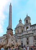 Brunnen der vier Flüsse Rom lizenzfreies stockfoto