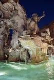 Brunnen der vier Fl?sse im Marktplatz Navona in Rom, Italien stockbild