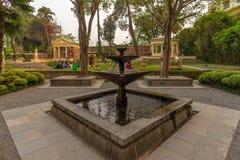 Brunnen der zeitgenössischen Art am Garten von Träumen stockfotos