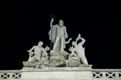Brunnen des griechischen Gottes Neptun, Piazza Del Popolo, Rom, Italien Stockbild