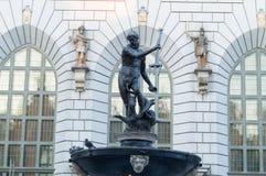 Brunnen des Neptun in Gdansk Stockfoto