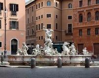 Brunnen des Neptun in Rom. Lizenzfreies Stockfoto