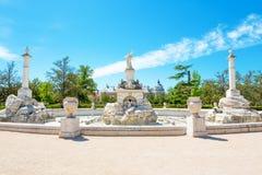 Brunnen des Palacio wirklich, Aranjuez lizenzfreie stockfotografie