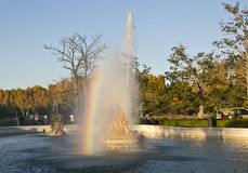 Brunnen des Palastes von Aranjuez, Spanien lizenzfreie stockbilder