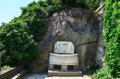 Brunnen des weißen Marmors Stockfoto